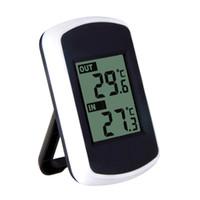 dijital kablosuz hava istasyonu termometre toptan satış-2018 Dijital LCD Kablosuz Termometre Hava İstasyonu ile Elektronik Sıcaklık Ölçer Kapalı Açık Tester Ev Termometre