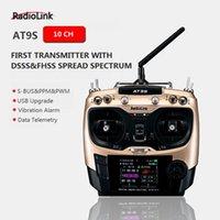 transmisor de helicóptero de control remoto al por mayor-Radiolink original AT9S R9DS Sistema de control remoto por radio DSSS FHSS 2.4G 10CH Receptor transmisor para RC helicóptero / RC BARCO