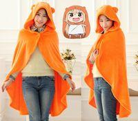 Wholesale cosplay cloak hoodies online - Anime Himouto Umaru chan Sankaku Cloak Hoodies Flannel Coat Umaru chan Doma Cape Cosplay Costume