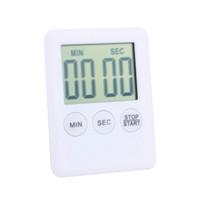 zamanlayıcı için lcd toptan satış-2018 Kare LCD Dijital Mutfak Zamanlayıcı Pişirme Zamanlayıcı Çalar Saat Mıknatıs Despertador Dijital Masa Saati Temporizador
