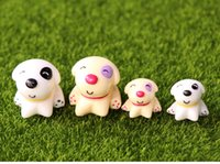 Wholesale toys girls house for sale - Group buy Mini Cute of Puppy cm Lovely House Collection Resin Miniature Model Kids Toys Cute Anime Gift Action Figure Micro landscape Toys