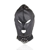 Wholesale Slave Gear - Top Quality Sex Toys Sex Hood Mask Bdsm Bondage Cap Pu Leather Eye Mask Slave Open Mouth And Eye Hood Toys For Adult Head Gear Products
