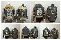 Wholesale Black Jacket Hoodie - Vegas Golden Knights Marc-Andre Fleury hockey Jersey Hoodie Pullover James Neal Clayton Stoner Sweatshirts Winter Jacket 100% Stitched