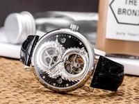 relógio projetado chinês venda por atacado-Moda de Alta Qualidade Relógios de Luxo Mens Mecânico Movimento Mecânico Chinês Dragon Design Esqueleto Relógio de Pulso Relojes