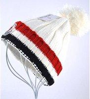 Wholesale Beaches Couples Resorts - popular Fashion Autumn Winter knitted hats for women beanies MON skullies Men Casual ski Hip-Hop Bonnet couple Caps Pom Skullies touca gorro