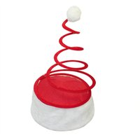 Wholesale Santa Claus Candles - New Christmas Red Spring Cap Party Santa Hat Red and White Cap for Santa Claus Costume (material Cloth, Spring) 5ZHH150