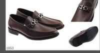 ingrosso mocassin uomini scarpe mocassini-SF Vera Pelle Vacchetta Uomini Scarpe Casual Designer di Lusso Mocassino Dress Scarpe Zapatos Hombre Driver Mocassini Scarpe 40-46