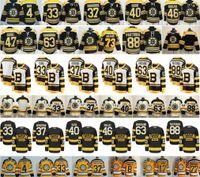 jersey de invierno bruins al por mayor-2019 Clásico de Invierno Boston Bruins 4 Bobby Orr 33 Zdeno Chara 37 Patrice Bergeron Tuukka Rask Krejci Brad Marchand 73 Charlie McAvoy Jersey