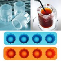 içki bardağı satışı toptan satış-Sıcak Satış Ice Cube Tepsi Kalıp Buz Kalıbı Yenilik Hediyeler Atış Gözlük Yapar Buz Tepsi Yaz Içme Aracı Renk Rastgele