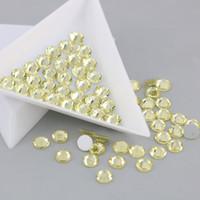 Wholesale Craft Crystal Gem Stones - Diy Jonquil Crystals gems for dress Flat bock crafts Stones rhinestones nails decoration glass SS3-SS34 (Jonquil)