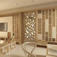 Wholesale wall tile art - 12Pcs 3D Mirror Vinyl Removable Wall Sticker Decal Home Decor Art DIY