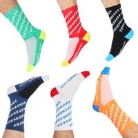 Wholesale thin tube socks - Soft Outdoor Climbing Socks Ventilation Wear Resisting Middle Tube Designer Cycling Sock Motion Run Light Thin Multi Style 7 5gf cc