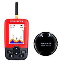 ingrosso fishfinder fishfinder-Nuovo Portable Sonar Sensor Wireless Fish Finder Ampia retroilluminazione bianca LED LCD Fishfinder Top Fish Detector