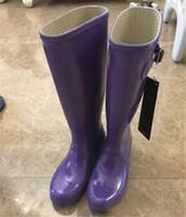 fass schuhe großhandel-Frauen Original lange Barrel Regen Stiefel Mode Damen Knie Stiefel 2018 wasserdicht Welly Stiefel für Frauen Outdoor Schuhe Regenbekleidung Regenstiefel