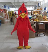 Wholesale Mascot Funny - New Adult cute New Design Funny Chicken Mascot Costume Fancy Dress Hot Sale Party costume Free Ship