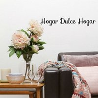 Wholesale wall words decals lettering stickers - Spanish Hogar dulce Hogar Quote Lettering Art Vinyl Sticker Words Sweet Home Wall Bedroom Living Room Door Window Home Decoration