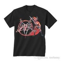 nouvelle chemise de style china achat en gros de-China Style Fashion Rock SLAYER Afficher No Mercy T-Shirt