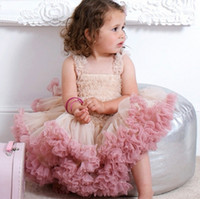платье ангела оптовых-Мода милый ребенок девушки платье день рождения платье дети девушки ангела марлевые юбки детские принцесса платье Туту юбка