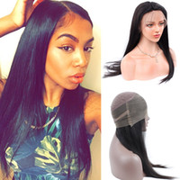 Wholesale Long Wigs For Women - Malaysiay Human Hair Wigs for Black Women Malaysian Silk Straight 360 Lace Frontal Wigs with Baby Hair Lace Human Hair Wigs