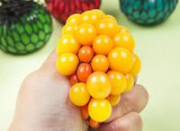 gesicht stressabbau großhandel-Anti Stress Mesh Face Reliever Traubenball Autismus Stimmung Squeeze Relief Gesundes Spielzeug Lustiges Gadget Vent Dekompression Spielzeug Geschenke