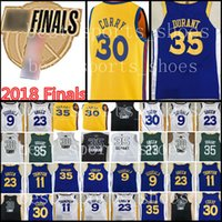 jerseys durante al por mayor-2018 Finales Golden State Warriors Jerseys Hombre 30 Stephen Curry 35 Kevin Durant 23 Draymond Green 9 Andre lguodala Branded Maroon Jersey