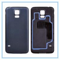 batería de oro para galaxy s5 al por mayor-Blanco Negro Azul Oro Alta calidad Nuevo reemplazo de la contraportada Cubierta de la batería Puerta para Samsung Galaxy S5 SV I9600 G900 con anillo de goma