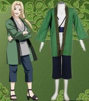 Wholesale female naruto cosplay online - NARUTO Tsunade cosplay costume halloween costumes