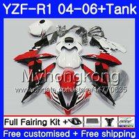 yamaha stern großhandel-Body Black stars red hot + Tank Für YAMAHA YZF R 1 YZF-1000 YZF 1000 YZFR1 04 05 06 232HM13 YZF1000 YZF-R1 04 06 YZF R1 2004 2005 2006