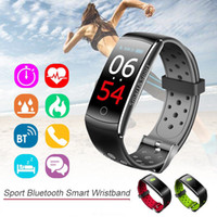 Wholesale Male Vibrating - Q8 Watches Blood Pressure Smart Band Pedometre Vibrating Alarm Clock Fitness Bracelet Touch Screen For xiomi pk fitbits