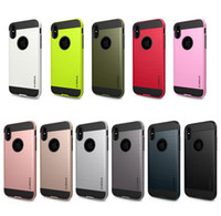 Wholesale Case Iphone Verus - 50pcs Verus For Iphone X 5 5s SE 6 6s 7 8 Plus Armor Rugged Shockproof Hard PC+TPU Brushed Hybrid Case