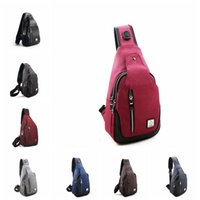 Wholesale fabric male clothes online - 8colors Oxford cloth Chest Bag Multifunctional Small Male Messenger Crossbody Bags Fashion Shoulder Bag storage bag GGA879