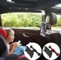Wholesale Adjustable Headrest - Car Back Seat Phone Holder Headrest Rotating Universal Stand For GPS 360 Rotating Adjustable phone Holder FFA115 6styles 10pcs