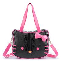 d9bdfca50 Bolsos de las mujeres Hello Kitty Nueva Chica Maquillaje Bolsa Bolsas de  Viaje de Gran Capacidad Señoras de Alta Calidad Bolsa de Hombro Accesorios  a granel