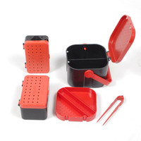 Wholesale new design lures for sale - Group buy New Design Compartments Fishing Baits Earthworm Worm Lure Storage Case Tackle Box Bait Containers Buckets