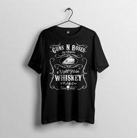gül gecesi toptan satış-Gece Tren Viski, Slash, Guns N Roses Inspired Erkek Unisex T-Shirt S-2XL