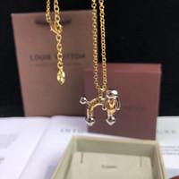 ingrosso collana di cristallo di buona fortuna-Collana di alta qualità con ciondolo a forma di cane speciale monogramma per gioielli da sposa collana donna regalo PS7015