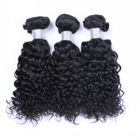 Wholesale Indian Jerry Curl Hair Extension - 9A Brazilian Jerry Curly Human Hair Weaves 100% Unprocessed Peruvian Malaysian Indian Cambodian Jerry Curls Human Hair Extensions Curly Hair