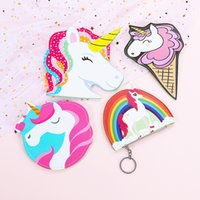 Wholesale new style door online - Cartoon Unicornio Purse New Designer Coin Wallet Portable Cute Unicorn Girl Zipper Card Bag Many Styles smb XC