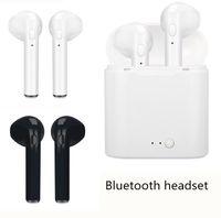 Wholesale Earplug Earphones - Bluetooth headset i8x headphone earplug type single ear stereo 4.1 Bluetooth headset dual ear bluetooth earphone