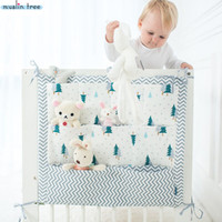 Wholesale light diaper bag for sale - Group buy Muslin Tree Bed Hanging Storage Bag Baby Cot Bed Brand Baby Cotton Crib Organizer cm Toy Diaper Pocket for Crib Bedding Set