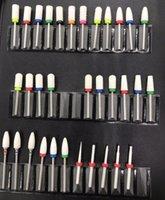 typen bits großhandel-5 Typ Keramik Nagel Bohrer Maniküre Maschine Zubehör Rotary Elektrische Nagelfeilen Cutter 2,35mm Polierer Kopf Werkzeuge