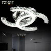 k9 avizeler modern toptan satış-Modern LED Kristal Tavan Avize Işık Aydınlatma K9 Kristal Avizeler tavan lambası cilalar de cristal Oturma Odası Yatak Odası Mutfak için