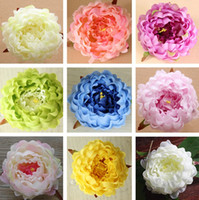 Wholesale Bouquets Peonies - Craft Fake Bouquet Silk Peony 13 Colors Artificial Flowers Real Touch Flowers Wedding Home Party Decor Silk Flowers T2I257