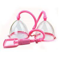 ручной вакуумный насос оптовых-Ручной массаж с двумя вакуумными аспирационными чашечками. Увеличение груди. Увеличение груди. Насос для груди.