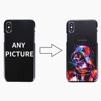 iphone 4s telefonlar toptan satış-50 adet Özel Tasarım DIY Logo / Fotoğraf Sert Telefon Kılıfı Için iPhone 4 4 S 5 5 S SE 6 6 S 7 Artı Özelleştirilmiş Baskılı Arka Kapak