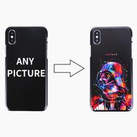logo de l'iphone achat en gros de-50pcs conception personnalisée bricolage logo / photo cas de téléphone dur pour iPhone 4 4S 5 5S SE 6 6 s 7 plus personnalisé couverture arrière imprimée
