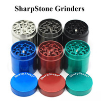 Wholesale Grinder Spices - Sharpstone Grinders Herb Spice Crusher Metal Grinders 40mm 50mm 55mm 63mm 4 Parts Grinders Zinc Alloy Super High Quality 6 Colors