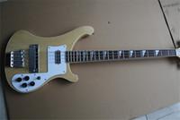 natürliche holzfarbe e-gitarre großhandel-Nagelneues super natürliches hölzernes Farben-Qualitäts-Rick 4003 doppelter Input 4 Zeichenketten-E-Bass geben Verschiffen frei