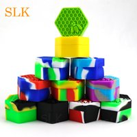 Wholesale bees tools - New arrival silicone wax container 26 ml dab tool storage honey jar custom logo dab containers mini bee on the lid oil holder
