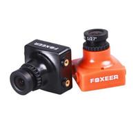 caméra ccd fpv achat en gros de-Haute qualité Foxeer HS1190 Arrow 600TVL CCD OSD NTSC 2.8mm Bloc IR noir Mini caméra FPV 5-35v avec support pour FPV Multicopter